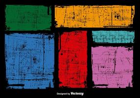Grunge kleurrijke banners vector
