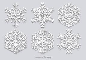 Witte sneeuwvlokken set vector