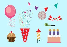Set van feestelementen in vector