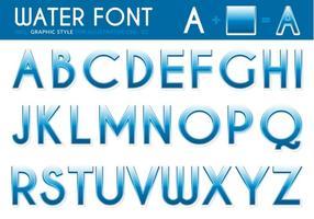 Gratis Water Lettertype Vector