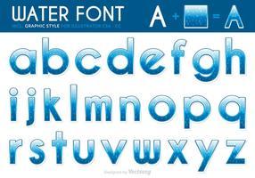Gratis Vector Water Lettertype Met Druppels