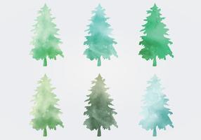 Waterverf Vector Bomen