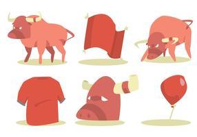 Bull rider vector set