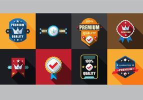 Gratis Flat Labels Badges Set Vector