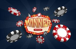 winnaars loterij jackpot prijs vector