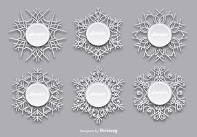 Sneeuwvlokken sjablonen vector
