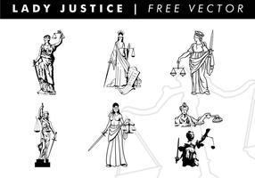 Dame rechtvaardigheid vrije vector