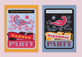 Free Party Poster Vector Achtergrond