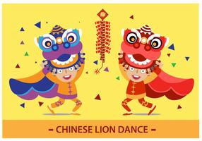 Chinese leeuwendans vector