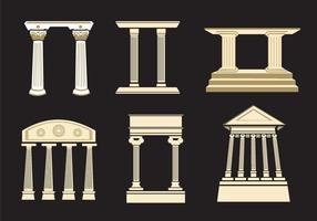 Oude Romeinse Pijlers vector