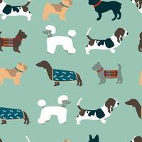 naadloze patroon met honden vector
