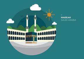 Makkah Kabah vector