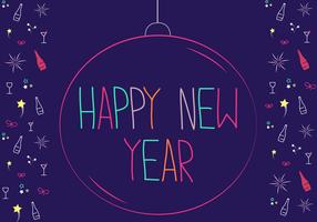 Gratis Gelukkig Nieuwjaar Vector