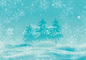 Mooie Kerst Achtergrond Illustratie vector