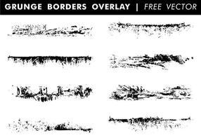 Grunge Borders Overlay Gratis Vector