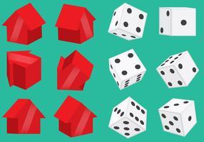 Monopoly Pieces En Dice Vectors