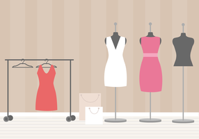 Gratis Dressing Room Vector