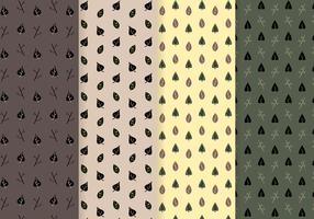 Gratis bladeren patroon vector