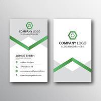 verticale groene en witte visitekaartjesjabloon vector