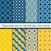verzameling mediterrane geometrische patronen