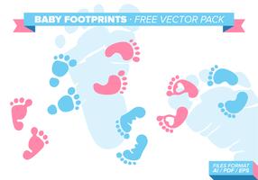 Baby Voetafdrukken Gratis Vector Pack