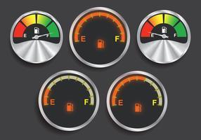 Brandstof indicator vectoren