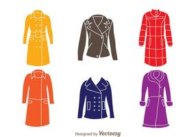 Vrouwelijke jas vector