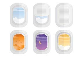 Vliegvensters van het vliegtuig