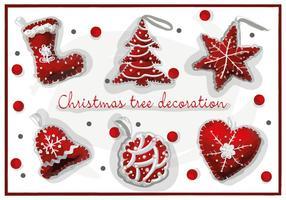 Gratis Kerst Decoraties Vector