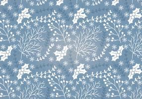 Winter Holly Vector Naadloos Patroon