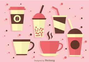 Hot and Cold Drinken Pictogrammen vector