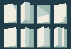 Platte papier flip vector