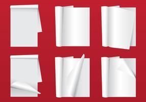Blanco magazine pagina flip vector