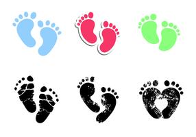 Gratis Baby Footprints Vector