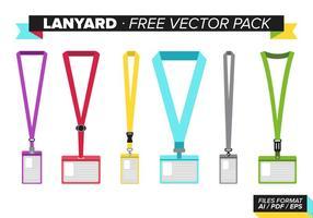 Lanyard Gratis Vector Pakket