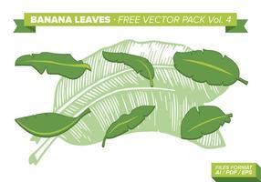 Bananenbladeren Gratis Vector Pack Vol. 4