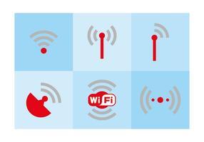 WiFi-logo en symbolen vector