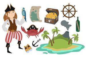 piraat in cartoon-stijl