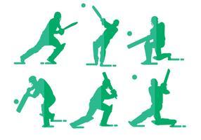 Cricket speler vectoren