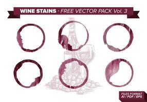 Wijn vlekken Gratis Vector Pack Vol. 3