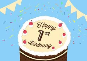 1e Verjaardag Vector