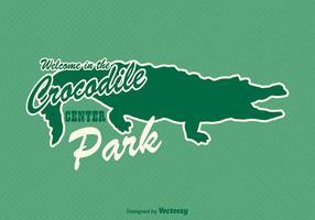 Gratis Gator Sticker Vector