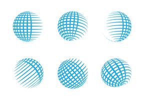 Gratis Globe Grid Logo Vector