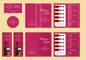 Klassieke sjablonen en wijnkaart vector