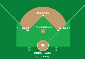 Honkbal Diamant Illustratie vector