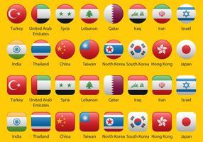 Aziatische vlaggen