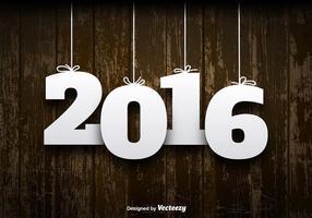 2016 Houten Achtergrond Vector