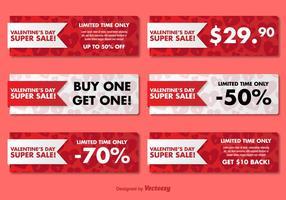 Valentijnsdagverkoop Banners vector