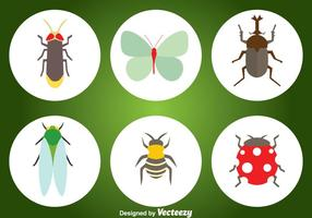 Insect vlakke pictogrammen