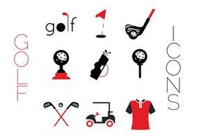 Creatieve Golf iconen vector